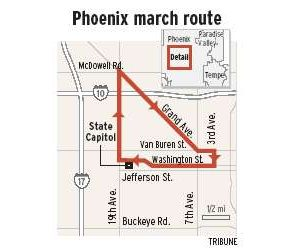 Shared theme unites marchers