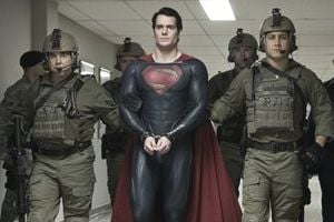 "<p>This film publicity image released by Warner Bros. Pictures shows Henry Cavill as Superman in ""Man of Steel.""</p>"