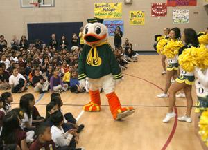 Thew Elementary School Oregon rally