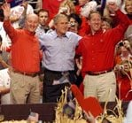 Bush heads south for last campaign swing