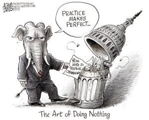 Editorial Cartoon: Do Nothing GOP