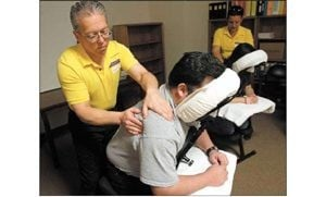 Massages on the job can ease stress of work