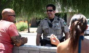 Scottsdale officers doing foot patrols