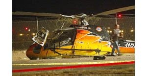 Medical helicopter crashes in Mesa