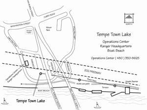 Tempe Town Lake refill map