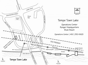 Tempe Town Lake refill map