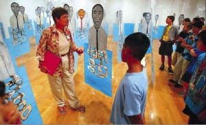 Museum helpers give tours, explain art and get great schooling in the process