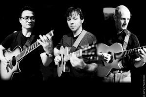 <p>Hideyo Moriya of Chiba, Japan, Paul Richards of Utah, and Bert Lams of Affligem, Belgium, make up the California Guitar Trio, performing this weekend in Mesa.</p>