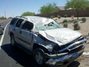 San Tan Valley rollover
