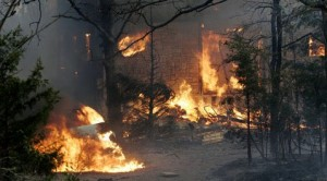 Dozens of homes destroyed in fires