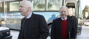 Former Dem Lieberman endorses McCain