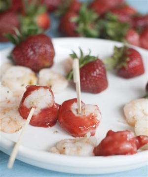 Food Strawberry Shrimp Cocktail