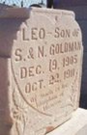Headstone naming Mo. boy sits in Gold Canyon