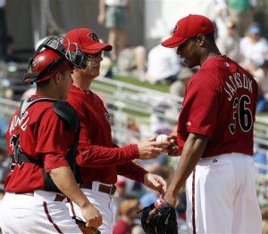 Jackson struggles in Arizona's loss to Reds