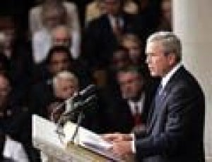 Bush: Rebuilding must address inequality