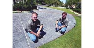 Fancy new coats for driveways and garages pave the way to stylish look