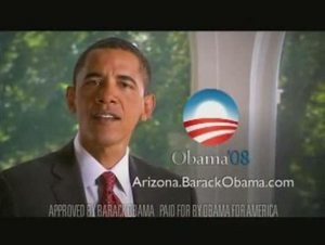 Obama first to air ad in Arizona