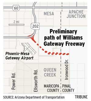 Gateway Freeway path