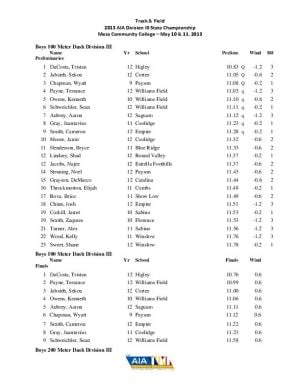 Div. III boys/girls track and field results
