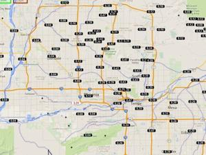 <p>Rain spread out all over the Valley on Thursday night.</p>