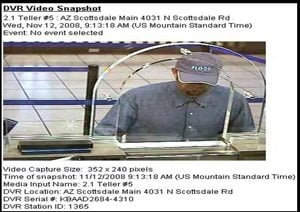 Scottsdale police seek bank robber