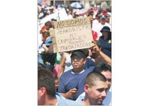 Immigration fight hits the streets