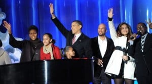Obama family lights national Christmas tree