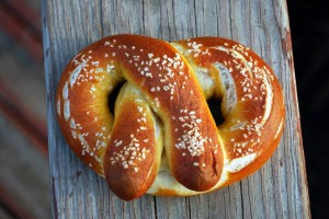 haus-made pretzel