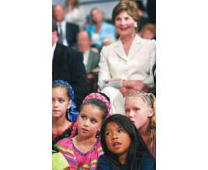 First lady visits Kyl fundraiser, E.V. school kids
