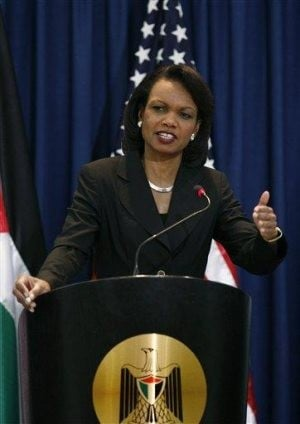 Rice criticizes Israel on West Bank settlements