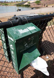 Canine droppings litter Gilbert dog park