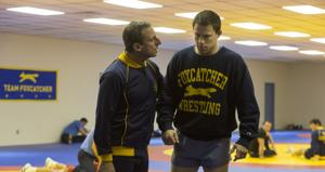 "<p>Steve Carell as John du Pont and Channing Tatum as Mark Schultz in a scene from ""Foxcatcher."" [Courtesy Sony Pictures Classics]</p>"