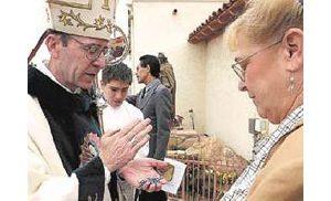 New Catholic bishop pays visit to Mesa church