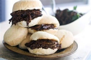 Food-Deadline-Barbecue Brisket Sliders