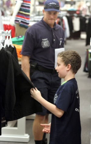 School Shopping with a Firefighter