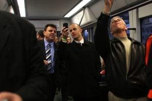 Hundreds get sneak peek of light rail train