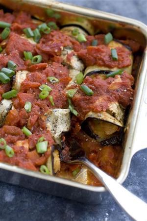 Food Healthy Eggplant Rolls