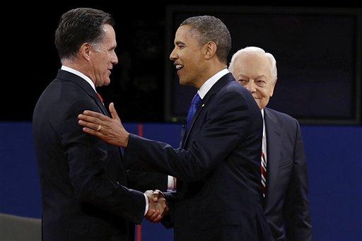 Mitt Romney, Barack Obama, Bob Schieffer