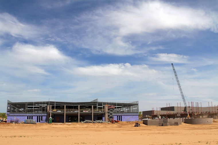Sossaman Middle School under construction