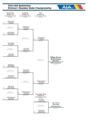Badminton Doubles Bracket