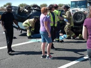 Mesa accident on US-60