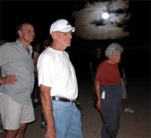 Night hikers see the desert by starlight