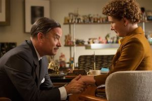 "<p>This image released by Disney shows Tom Hanks as Walt Disney, left, and Emma Thompson as author P.L. Travers in a scene from ""Saving Mr. Banks."" (AP Photo/Disney, François Duhamel)</p>"