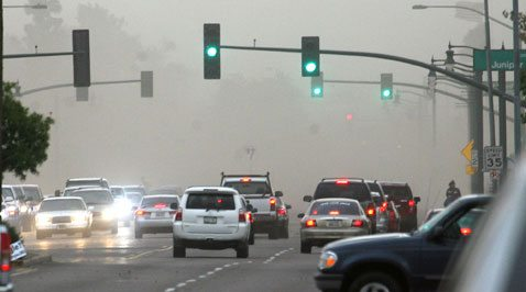 Winter brings rain, hail, wind to East Valley