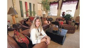 Designer's home is busy, 'comfortable'