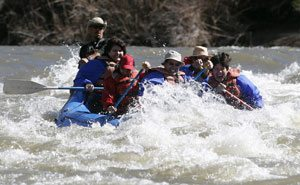 Where Salt River runs deep, rafting is best