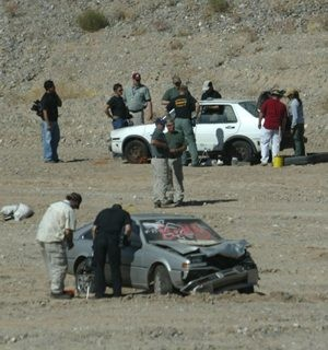 Authorities take explosive crash course