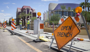Businesses buckling down for end of light rail construction