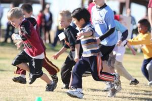 Students running their way to fitness