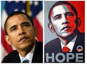 Artist admits using key AP photo for 'HOPE' poster